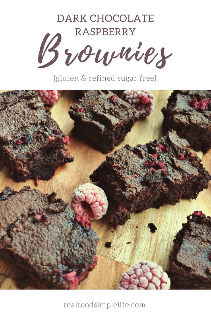 Dark Chocolate Raspberry Brownies